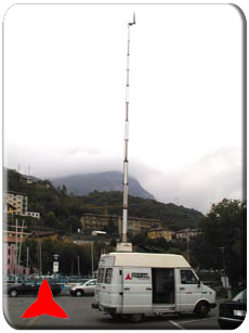 PROTEL HALF MOBILE FOR RADIO MEASURES-POLE 21 MT.